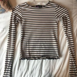 XS striped long sleeve shirt